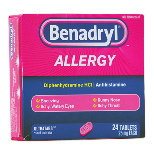 Picture of Benadryl Tablets 25 mg 24/pkg