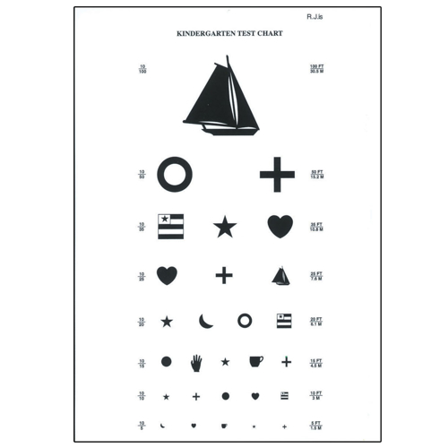 Picture of Kindergarten Eye Chart-10 ft
