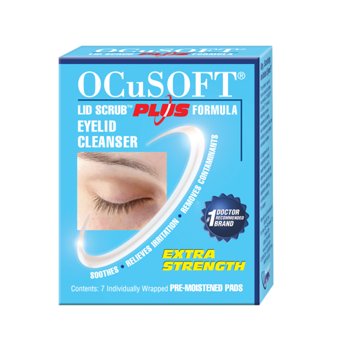 Picture of OCuSOFT Lid Scrub Plus Pre-Moistened Pads Pre-Surgical/Trial Pk - 7 ct