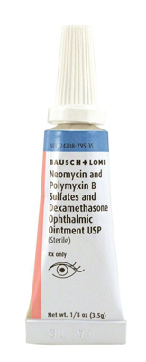 Picture of Neomycin & Poly B Sulfates & Dexamethasone Oint (Rx) 3.5 gm