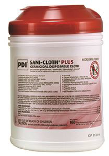 Picture of Sani-Cloth Plus - 14. 85 Pct Alc - Large - 160/Can