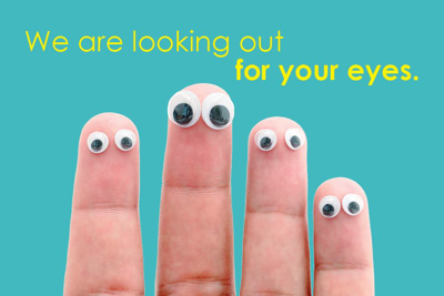 Picture of Googly Eye Fingers Reminder Postcard 4X6 50 ct