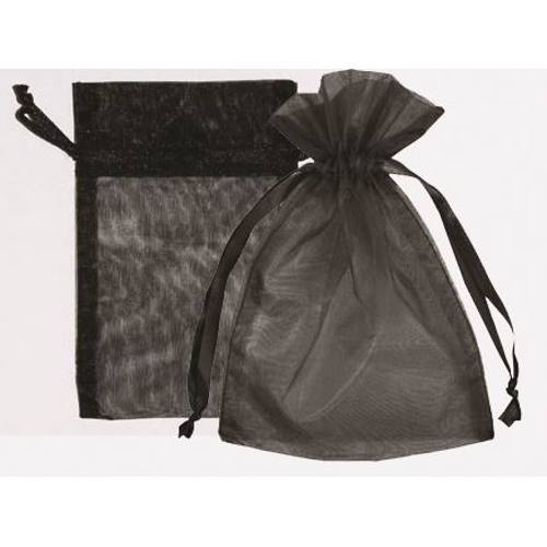 """Picture of Organza Bags 6""""X10""""- Black 25/Box"""