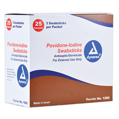 Picture of Betadine- Swabstick Pvp Prep 3S Box/25