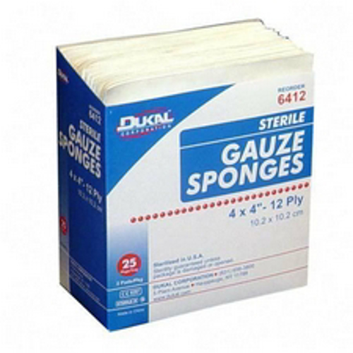 Picture of Gauze Pads-Sterile 4X4 2 Per Pkg/12 Ply Box/50