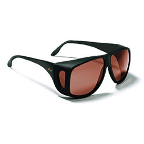 Picture of Solar Shield Aviator Sunglasses - Polarized Gray Lenses - Aviator Black Frame - Ea