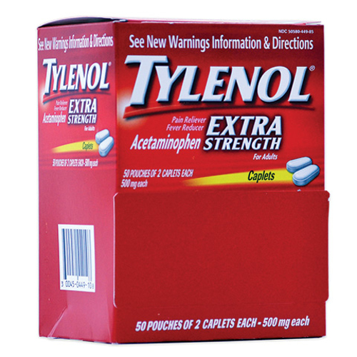 Picture of Tylenol Extra Strength-2/Pk 500 mg Box/50