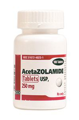 Picture of Acetazolamide Tablets 250 mg (Rx) Btl/100