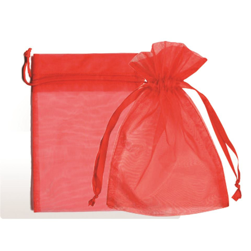 """Picture of Organza Bags 6""""X10""""- Red 25/Box"""
