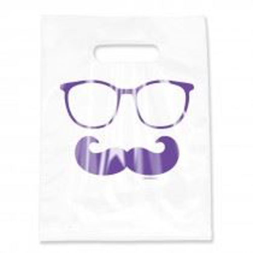 Picture of Scatter Clear Glasses & Moustache Bag 9 X 12 50/Box