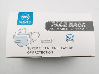 Picture of Latex Free 3 Ply Earloop Disposable Mask 50/Bx