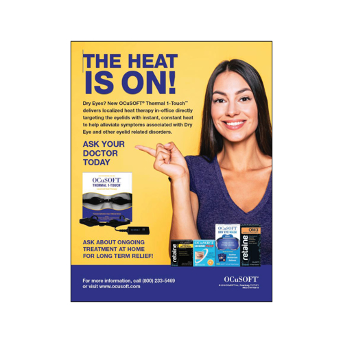 Picture of Outside Rep Samples Ocusoft Thermal 1-Touch Pop Display Sheet (Qty 1)