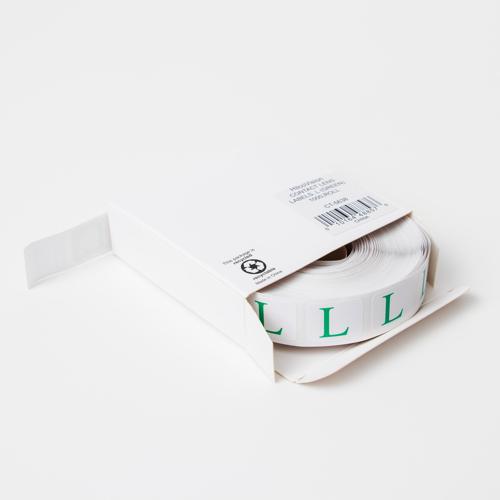 Contact Lens Case Sticker - Left (Green)
