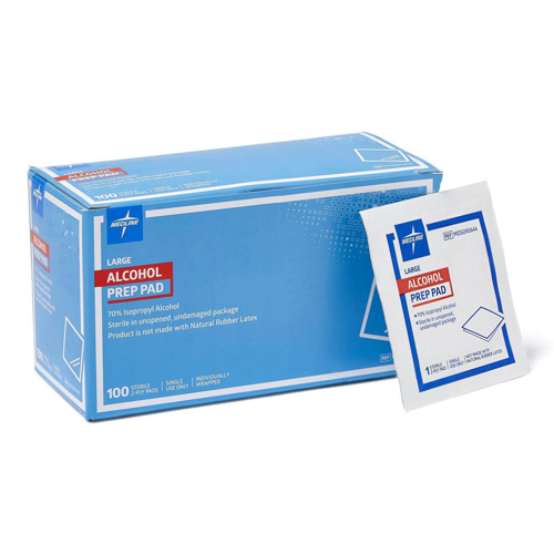 Picture of Alcohol Pads 1.75 In. X 3 In. Large - Box/100